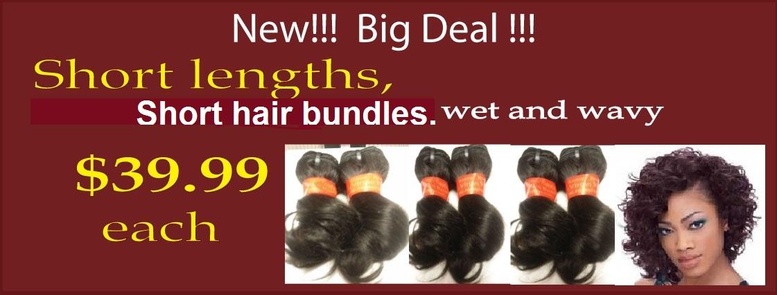 hair bundles short